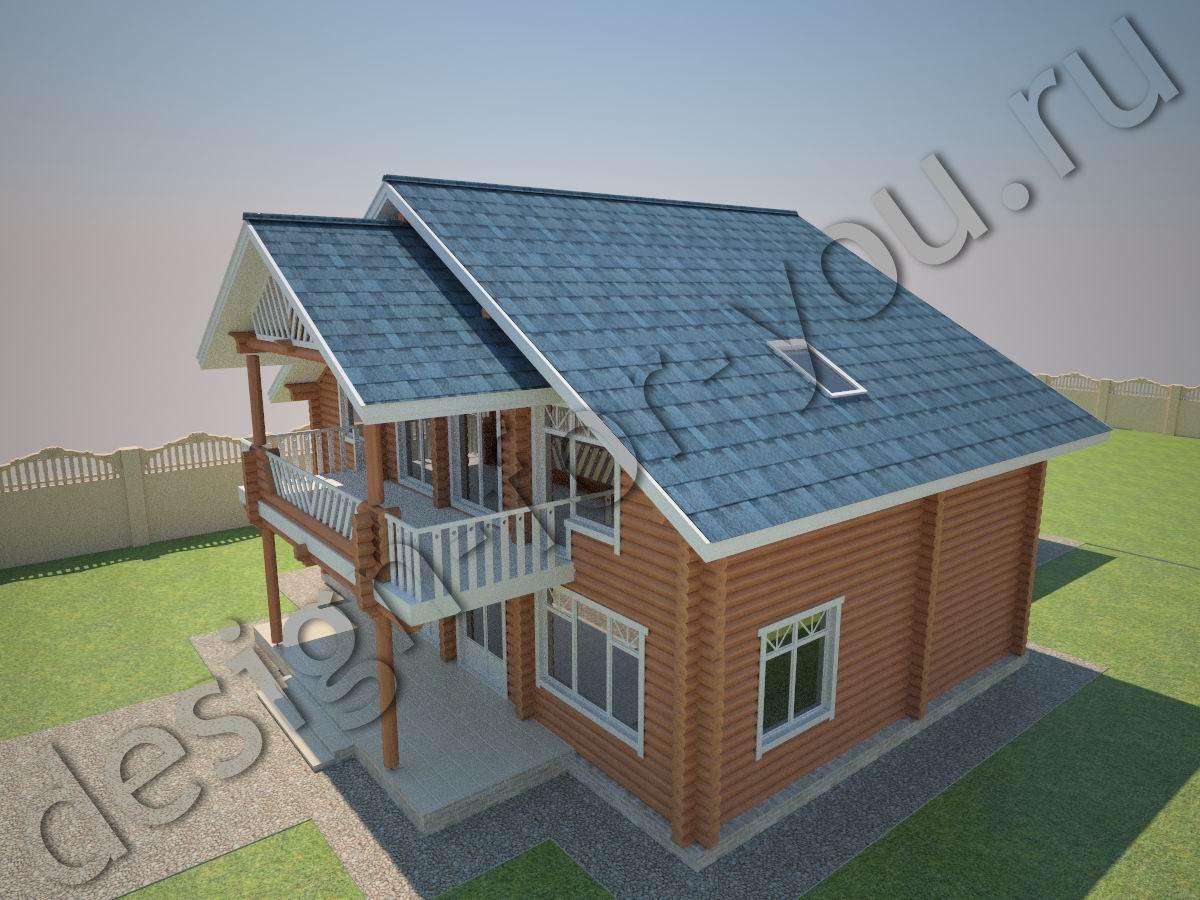 Крыша над балконом в частном доме.
