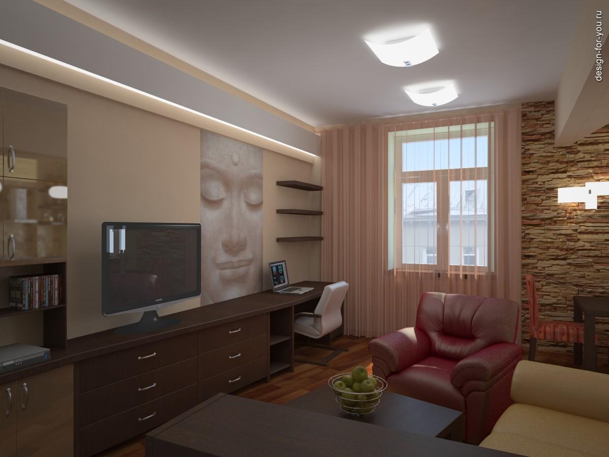 Дизайна интерьера гостиной