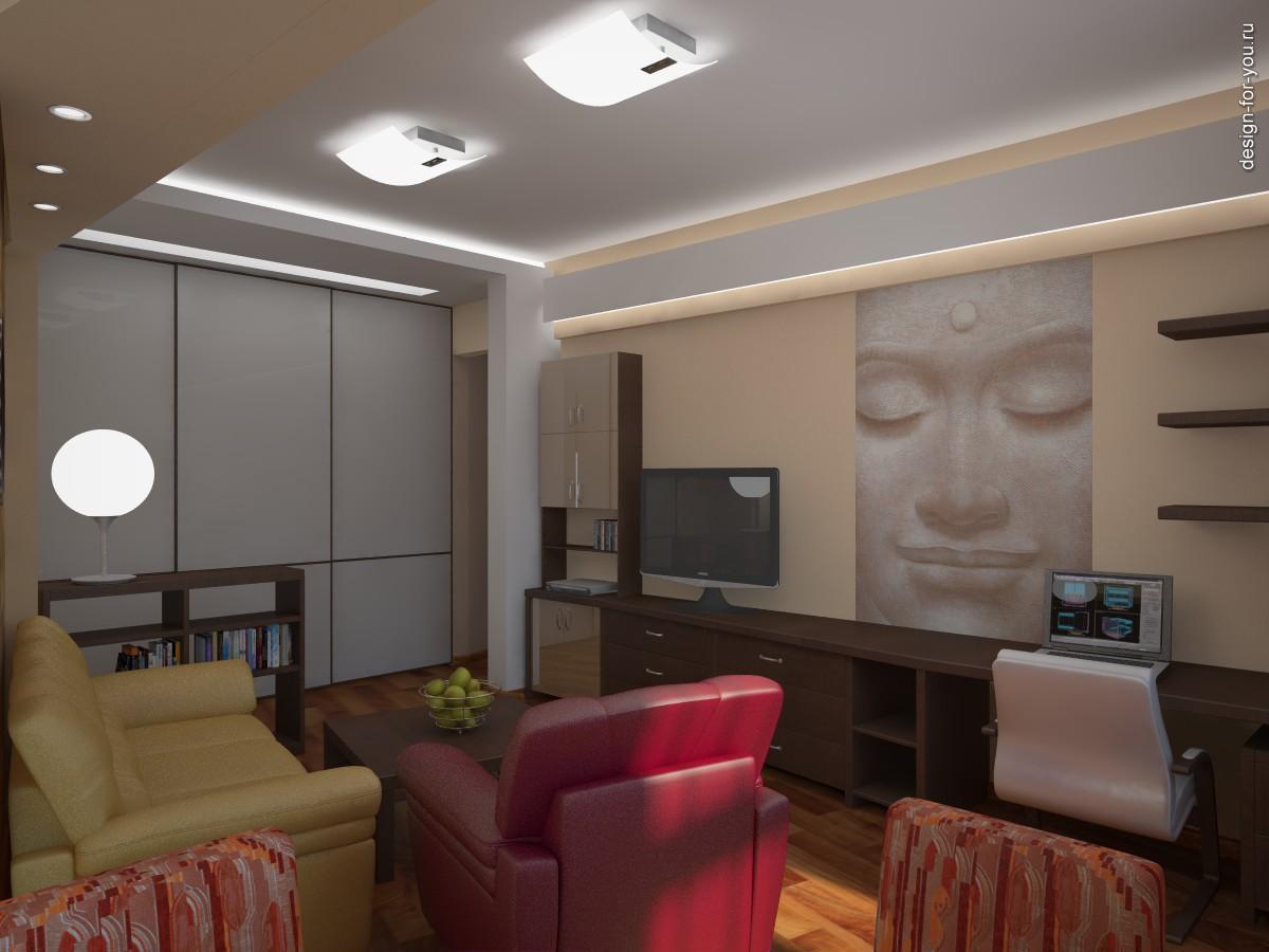 Фото 3 интерьер гостиной комнаты вид
