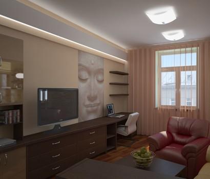 Фото 2 дизайн интерьера гостиной вид