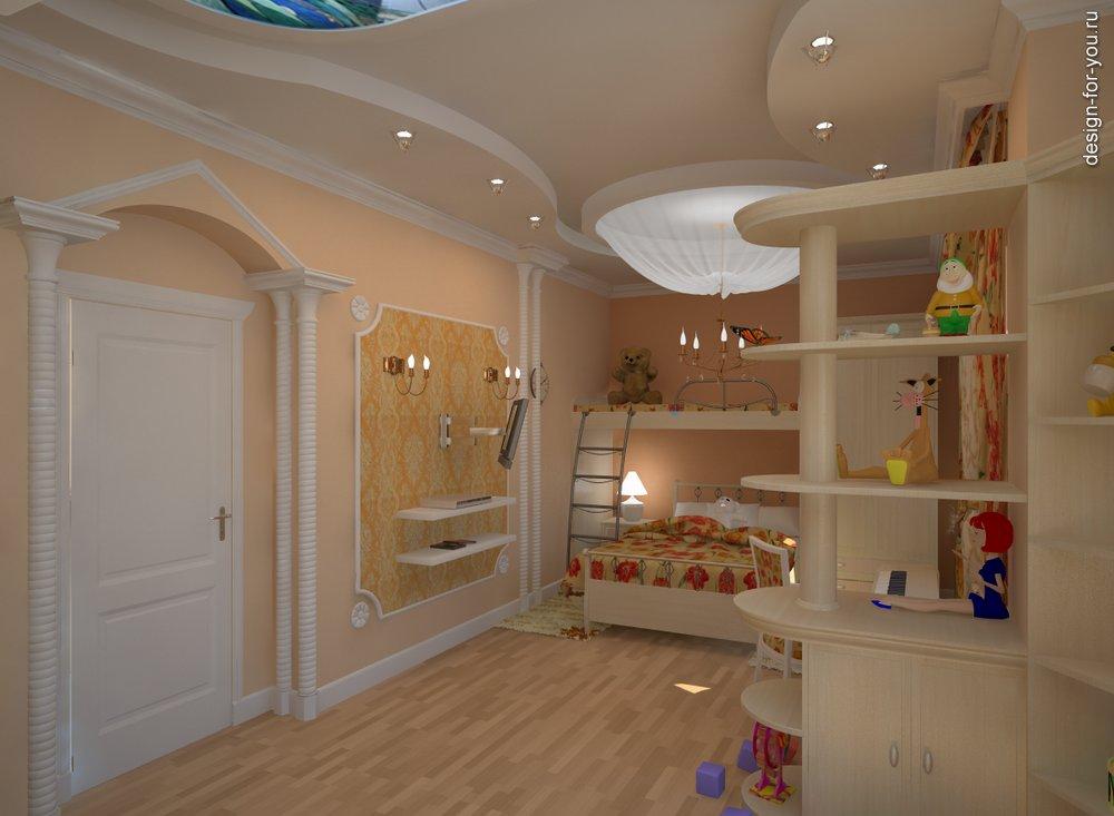 Двухъярусная кровать в детской фото